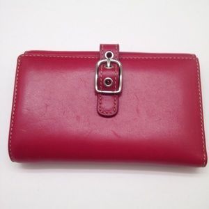Coach vintage red leather wallet